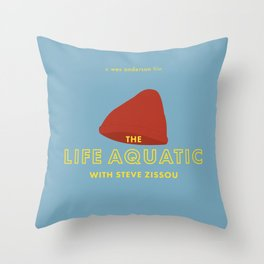 The Life Aquatic with Steve Zissou Beanie Poster Throw Pillow