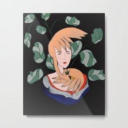 The Swan Princess Illustration  Metal Print