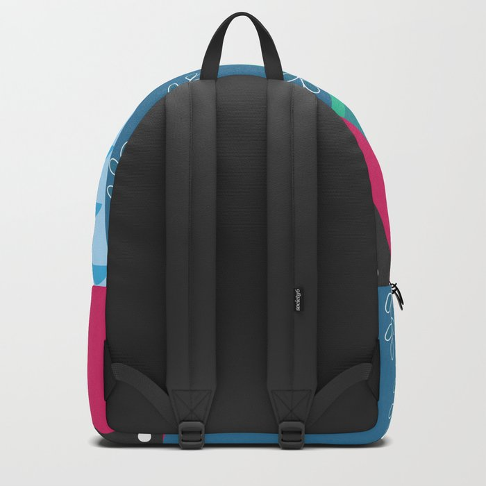 Abstract summer route Backpack