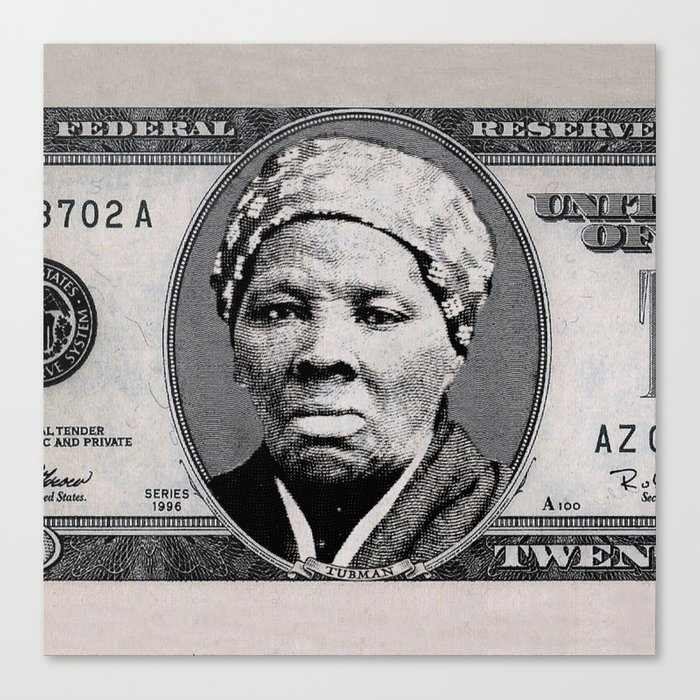 Harriet Tubman Twenty Dollar Bill Canvas Print By Ustshirts Society6