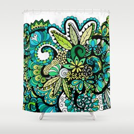 Tropical Illusion Shower Curtain