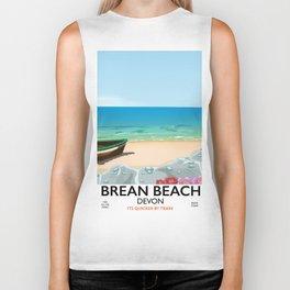 Brean Beach devon Biker Tank