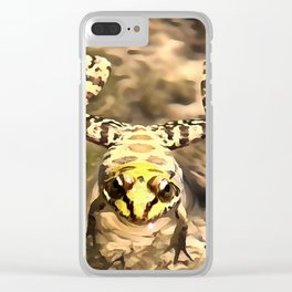 Swimming Frog Clear iPhone Case