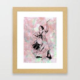 Mago's Janggu Chum  (Traditional Korean dancer with drum) Framed Art Print