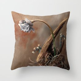 Rusted Flowers 2 Throw Pillow