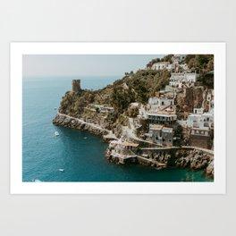 Positano Italy photo print Praiano beach landscape Amalfi Coast photo Amalfi print Italy prints One Fire peach Italy landscape