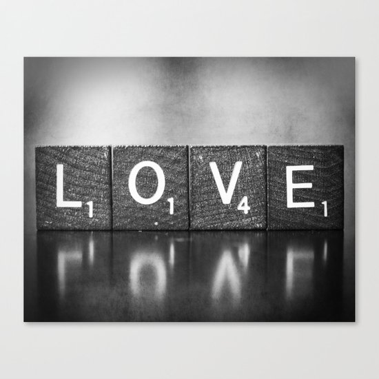Love is a Beautiful Word - a fine art photograph Canvas Print