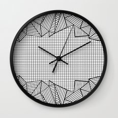 Grids and Stripes Wall Clock