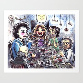 Dinner with the Family Art Print