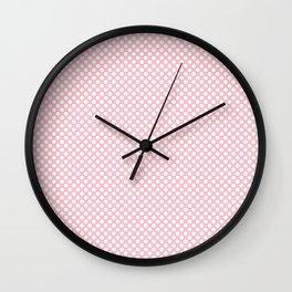 Rose Shadow and White Polka Dots Wall Clock