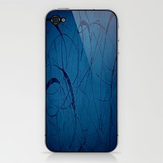 Pollock Inspired Blues Party iPhone & iPod Skin