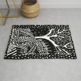 The woods are lovely, dark and deep Rug