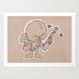 Lone Wookie and Cub Art Print