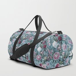Botanical Garden Blue Duffle Bag