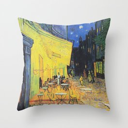 Café Terrace at Night by Vincent van Gogh Throw Pillow
