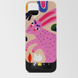Pink Bunny iPhone Card Case
