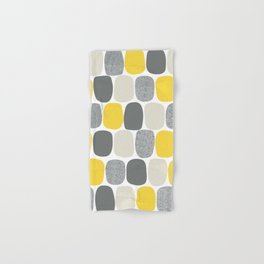 Wonky Ovals in Yellow Hand & Bath Towel