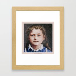 Young St. Therese of Lisieux Framed Art Print