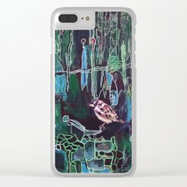 Small Brown Sparrow Clear iPhone Case
