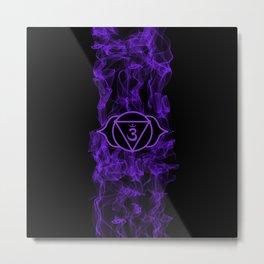 Purple Smoke Ajna Chakra Metal Print