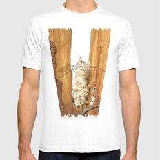 Kittens Up A Tree Mens Fitted Tee MEDIUM White