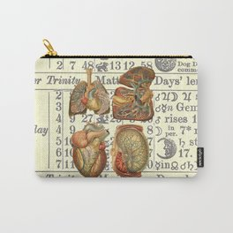 Beautiful Body Parts on Vintage Farmers Almanac page Carry-All Pouch