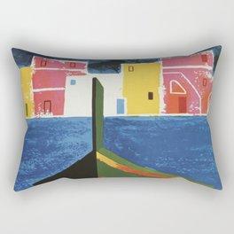 Procida Napels Italy retro vintage travel ad Rectangular Pillow