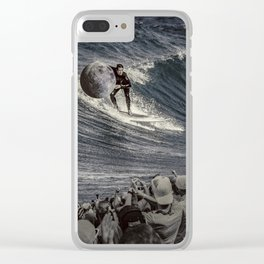 Steal the moon Clear iPhone Case