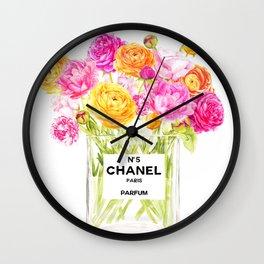 FLORAL No.5 PERFUME Wall Clock
