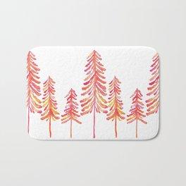 Pine Trees – Pink & Peach Ombré Bath Mat