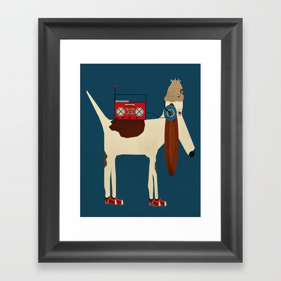 bootleg beagle  Framed Art Print
