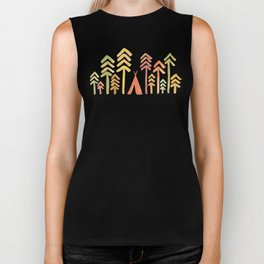 Tepee in the forest Biker Tank