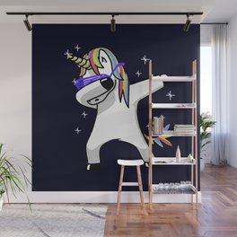 Dabbing Unicorn Shirt Dab Hip Hop Funny Magic Wall Mural