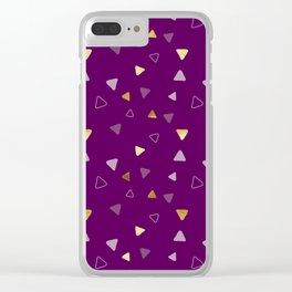 Multi Triangles - Wine Clear iPhone Case