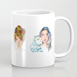 "Element Girls Drawing - ""Air"" Coffee Mug"