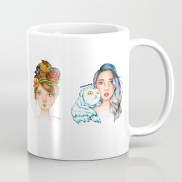 "Element Girls Drawing - ""Air"" Coffee Mug"