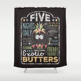 Exotic Butters Shower Curtain