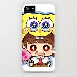 Chibi Spongebob Cosplay iPhone Case
