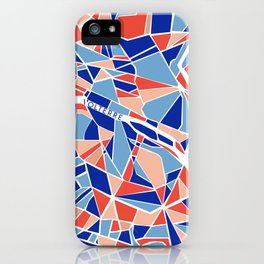 Paris Mosaic Map iPhone Case