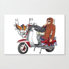 scooter is my soulmate Canvas Print