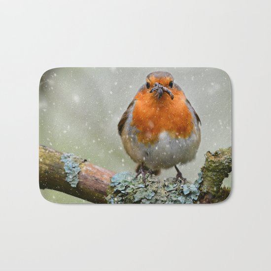 Chubby Winter Robin Bath Mat