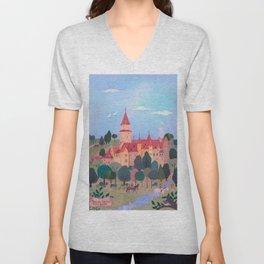 Bouzov Castle, Czech Republic Unisex V-Neck