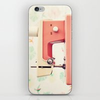 sewing iPhone & iPod Skins featuring Sewing Machine by Caroline Mint