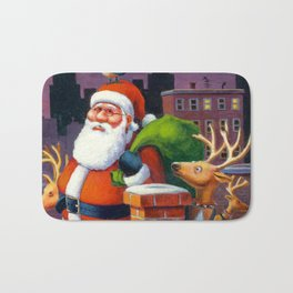 Santa's Tight Squeeze Bath Mat