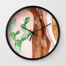 Cactus woman Wall Clock