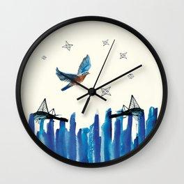 Flying among stars Wall Clock