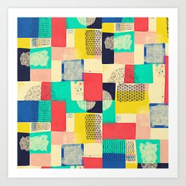 Blocky Pastel Art Print