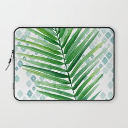 Tropical Palm Frond Watercolor Painting Laptop Sleeve