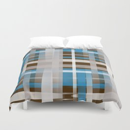 Chocolate Dipped Graphic Plaid Duvet Cover