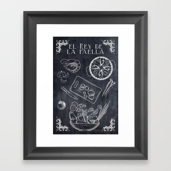 Superieur Paella Kitchen Art Framed Art Print
